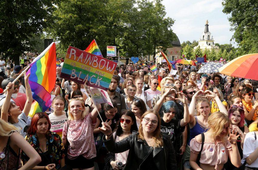 Belgrade Pride in solidarity with the first Pride in Bialystok
