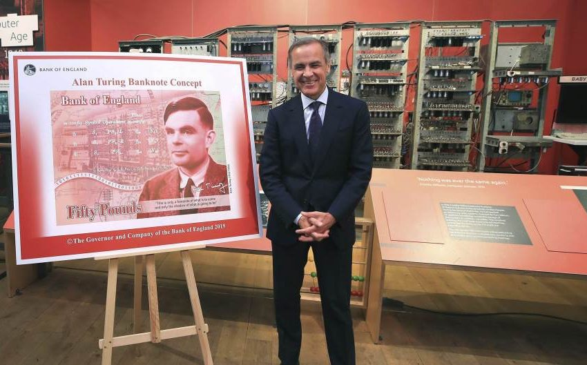 Mathematician Alan Turing on the new 50 pound note/banknote